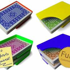 codeandmake.com_Quick_Draw_Card_Dispenser_v1.0-2.jpg Download free SCAD file Quick Draw Card Dispenser - Fully Customizable Deck Holder or Caddy for Playing Cards • 3D printing template, Code_and_Make