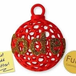 codeandmake.com_Personalised_Voronoi_Sphere_Christmas_Bauble_Decoration_v1.0-2.jpg Télécharger fichier STL gratuit Décoration de boule de Noël personnalisée de la sphère de Voronoï • Objet à imprimer en 3D, Code_and_Make