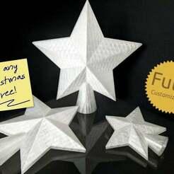 codeandmake.com_Christmas_Tree_Star_Topper_v1.0-2.jpg Télécharger fichier SCAD gratuit Le sommet de l'étoile de l'arbre de Noël entièrement personnalisable • Plan à imprimer en 3D, Code_and_Make