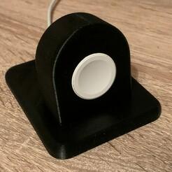 Station sans montre.jpg Télécharger fichier STL gratuit Station de charge Apple Watch • Objet imprimable en 3D, taga23