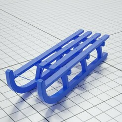 SledMain.jpg Download free STL file Snow Sled • 3D printing design, Forge_Of_Fantasy