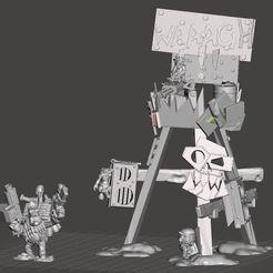 Preview.JPG Télécharger fichier STL gratuit Tour Orc Waaagh • Design à imprimer en 3D, TheSmoerebroet