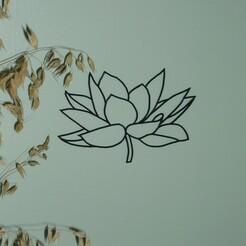 P1070038.JPG Télécharger fichier STL décoration murale fleur de lotus • Modèle à imprimer en 3D, EFAUVET