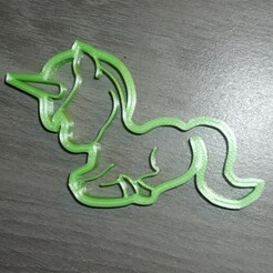 P1070008.JPG Download STL file cake cutter - unicorn elongated • 3D printable template, EFAUVET