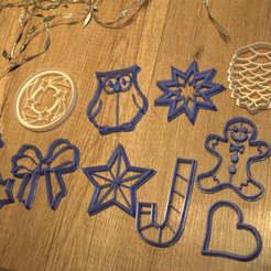 emportes_pieces_noel.jpg Download STL file Set of 11 cake cutters - Christmas theme • 3D print object, EFAUVET