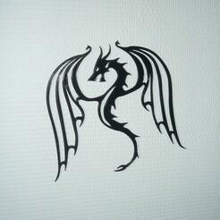 P1070051.JPG Download STL file dragon wall decoration • 3D print object, EFAUVET