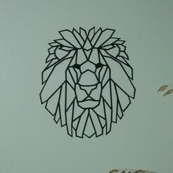 P1070031.JPG Download STL file lion's head wall decoration low poly • 3D printer object, EFAUVET