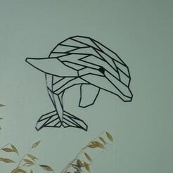 P1070045.JPG Télécharger fichier STL décoration murale dauphin low poly • Design pour impression 3D, EFAUVET