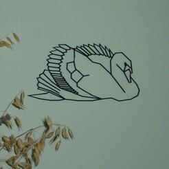 P1070042.JPG Télécharger fichier STL décoration murale cygne • Plan à imprimer en 3D, EFAUVET