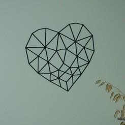 P1070033.JPG Télécharger fichier STL décoration murale cœur low poly • Objet pour imprimante 3D, EFAUVET