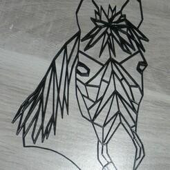 P1060995.JPG Télécharger fichier STL décoration murale cheval low poly • Objet imprimable en 3D, EFAUVET