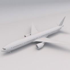 Boeing 777 1.jpg Download free STL file Boeing 777 PRINTABLE Airplane 3D Digital STL File • 3D printable object, Alpha3D_Digital