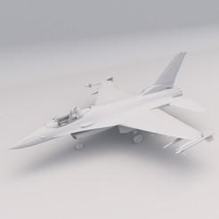 Jet F-16 1.jpg Download free STL file Jet F-16 PRINTABLE Airplane 3D Digital STL File • 3D printer design, Alpha3D_Digital