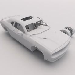 Dodge Challenger 4.jpg Download STL file Dodge Challenger PRINTABLE Car 3D Digital File • Model to 3D print, Alpha3D_Digital