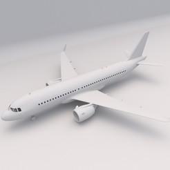 Airbus A320 1.jpg Download free STL file Airbus A320 PRINTABLE Airplane 3D Digital STL File • 3D print design, Alpha3D_Digital