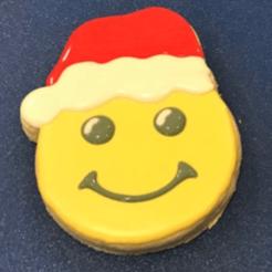 santaemoji.png Télécharger fichier STL gratuit Emporte-pièce Santa emoji (usage personnel) • Objet pour impression 3D, Budgiedesings