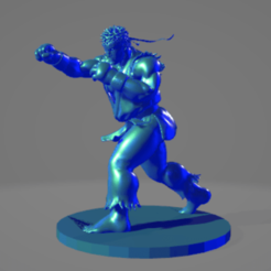 Sin título 1.png Download free STL file Ryu • 3D print model, ARTCRAFT3D
