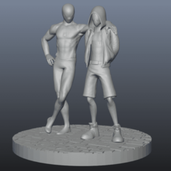 spider.png Download free STL file Spiderman Peter and Miles • 3D printing template, ARTCRAFT3D