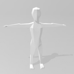 Lowpoly man.PNG Download STL file Lowpoly Man • Template to 3D print, Mahabur3DArtist