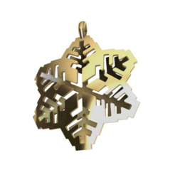 fiocco gold.png Download OBJ file SnowFlakes pendant • Object to 3D print, Giadadilu