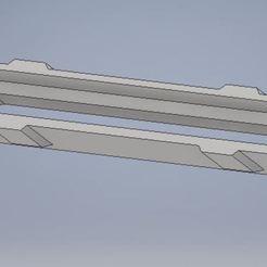 1.JPG Download STL file Travel of the sunroof curtain bar • 3D printable model, Dostalpa