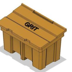 Grit 2.JPG Download OBJ file Model Railway Salt Grit Bin for Roadside or Car Park • Model to 3D print, PJD1974