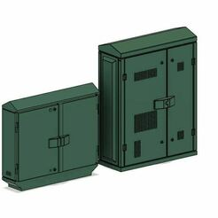 BT Green 1.JPG Télécharger fichier OBJ Modèles réduits de chemin de fer BT Green Street Cabinets téléphoniques et à large bande modernes • Modèle imprimable en 3D, PJD1974