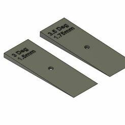 Camber Wedges V2.JPG Télécharger fichier OBJ Modèle réduit de chemin de fer à courbes cunéiformes • Modèle pour impression 3D, PJD1974