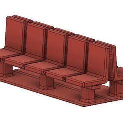 Platform Seats 1.JPG Télécharger fichier OBJ Sièges de plate-forme de modélisme ferroviaire à simple et double face • Plan pour impression 3D, PJD1974