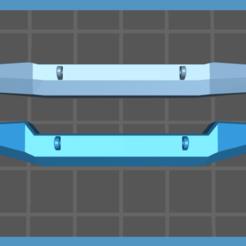 obrázek_2021-01-17_140406.png Download free STL file Revell Jeep Wrangler 1/25 Custom bumper • 3D print design, Perweeka