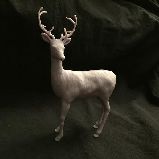 IMG_3376.JPG Télécharger fichier STL Chevreuil avec bois • Modèle à imprimer en 3D, SoulKim3D