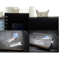 bookmark_Cat_Lithophane2.png Télécharger fichier STL Bookmark Cat Lithophane • Plan imprimable en 3D, XavAb29