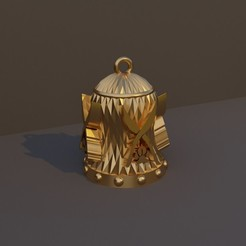 Explorador.jpg Download STL file Christmas Bell DnD Class - Explorer • 3D printing design, dadosndrama