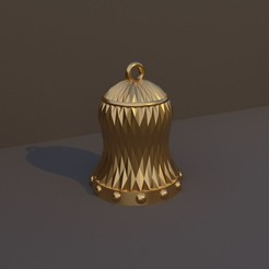 Simple.jpg Download free STL file Christmas Bell simple • Object to 3D print, dadosndrama