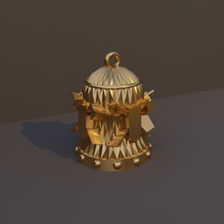 Guerrero.jpg Download STL file Christmas Bell DnD Class - Warrior • 3D print model, dadosndrama