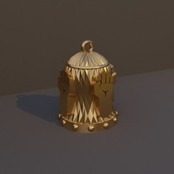 Monje.jpg Download STL file Christmas Bell DnD Class - Monk • 3D printable model, dadosndrama