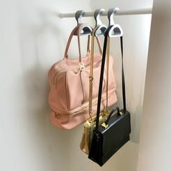 baghanger.jpg Download STL file Demese Bag Hanger 3d print model • 3D print object, finengineering
