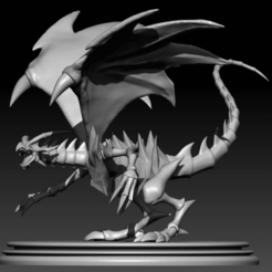 posed1 (2).png Download free STL file Red Eyes Black Dragon • 3D print design, HatraetusVII