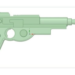 Mandalorian Gun.jpg Download STL file Mandalorian Blaster • 3D print object, daileydoug