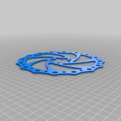 180_mm_mountain_bike_rotor_disk.png Download free STL file 180 mm Mountain Bike disk break rotor • 3D print object, daileydoug