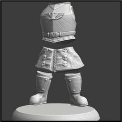 spacerussian.jpg Download free STL file Space Russian Body and Legs • 3D printer model, sumstrangerguy