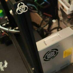 137345407_3558244934271761_6612346600570958762_n.jpg Download STL file Radioactive mask for Ender 3 profile • Model to 3D print, nicoww430