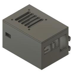 Boitier_Raspberry_X850_Octoprint_Ender_3_v7.png Download free STL file Ender 3 case for Raspberry Pi + X850 V3 mSATA SSD Shield • 3D printer model, HoM3r17