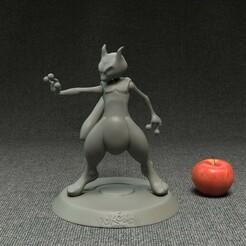 1front.jpg Télécharger fichier STL Modèle d'impression 3D de Pokemon MewTwo • Objet pour impression 3D, kdgstudios