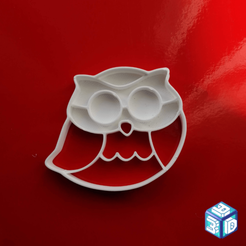 Gufetto.png Download STL file Owl Cookie Cutters • 3D printable object, 3designer