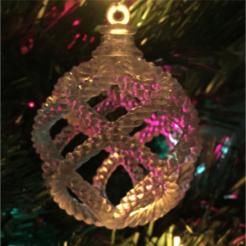 roap_ball.png Télécharger fichier STL Ornement de Noël / Boule de Noël blessée • Plan pour impression 3D, AdrianW