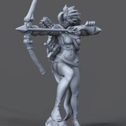 Clipboard01.png Download OBJ file Female Scout • Model to 3D print, paulmurphy2