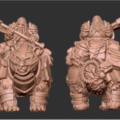 card_preview_Bear_Rider_2.PNG Download STL file  BEAR DWARF RIDER • Model to 3D print, mpalantezas