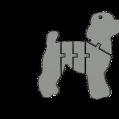 LLAVERO CANICHE v1_2.png Download STL file Poodle Keychain • 3D print object, turcomax