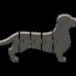 salchi 2.png Download STL file Dachshund Keychain • 3D printable object, turcomax